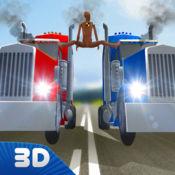 虚拟卡车分裂碰撞测试