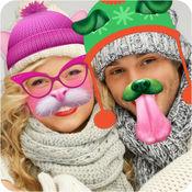 冬天照片贴纸:动物换脸应用