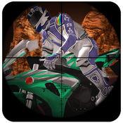 间谍摩托狙击手的攻击 - 死亡摩托自行车猎人:全免费游戏