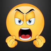 愤怒的Emojis通过键盘绘文字世界