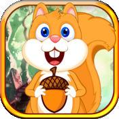 松鼠的快乐跳跃螺母 - 趣味收集橡子冒险