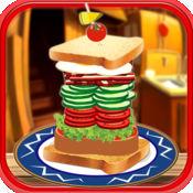 Stack It Sky High Sandwich Maker Game  堆栈天高夹心制作游戏