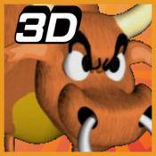 蜂拥3D: 与公牛惊跑