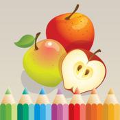 图画书 游戏有很多图片,如苹果,香蕉,葡萄,柠檬,梨,草莓 1