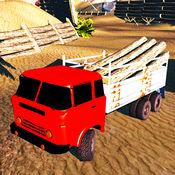 越野6x6的货运拖车运输模拟器