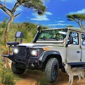 越野驾驶野生动物园动物罢猎