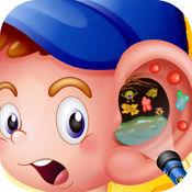 耳部整形 - 耳治疗的医生和疯狂的手术和水疗游戏
