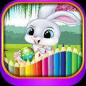 复活节 eggstravaganza 和兔子·宝宝填色·早教 ,儿童学画画免费