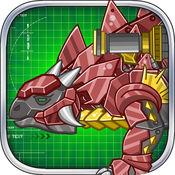 机械甲龙:组装/拼装恐龙玩具——双人益智拼图小游戏