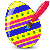 复活节兔子曼陀罗着色书