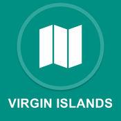 维尔京群岛,美国 : 离线GPS导航1