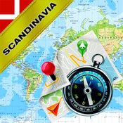 北欧:丹麦,挪威,瑞典,芬兰 - 离线地图和GPS导航仪