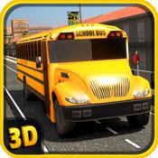 校车模拟3D - 驱动疯狂的城市和以孩子的乐趣停车场值班的挑战