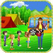 学校巴士旅行前学校教育游戏-前免费游戏的幼儿与幼儿园的小朋友