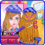 学校女孩 编织发型