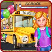 学校 孩子们 乐趣 天 自由 游戏的女孩