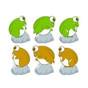 青蛙跳过河