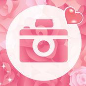 贴纸婚纱连衣裙相机 - 编辑过滤器帧效果边境质地摄影图片应用程序