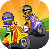 滑板车自行车赛车 - 免费3d滑板车自行车赛车