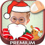圣诞照片贴纸和胶标签的孩子 - PREMIUM