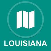 路易斯安那州,美国 : 离线GPS导航