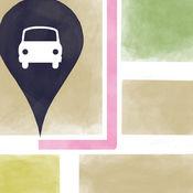Find My Car 找到我的車 找車工具 位置管理和帶地圖的 停車定位 導航儀 停車場 在哪兒