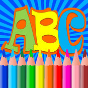 ABC字母著色書頁免費兒童蹣跚學步 1