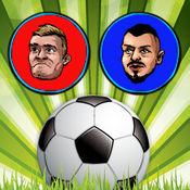 触摸 足球 五人制足球 射击 -  二 玩家 足球