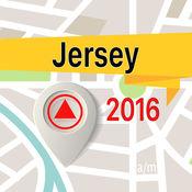 泽西岛 离线地图导航和指南 1