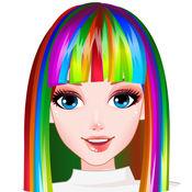 完美彩虹发型