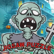 僵尸鬼拼图游戏的幼儿和孩子