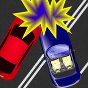 碰撞的汽车
