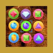 Gems Match SAGA - 游戏结合了出现像激流宝石珠宝或