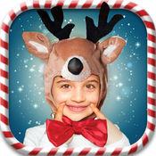 圣诞 照片 编辑器 - 圣诞老人 贴纸 1