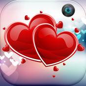 浪漫的爱情不干胶 – 款式图片与可爱的框架和贴纸艺术