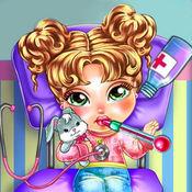 急救模拟:流感治疗 - 儿童医生感冒预防检查照顾模拟游戏