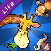 宝宝贴纸动物园,2-6岁儿童拼图游戏认动物识字学英语