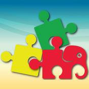 幼儿拼图 - 乐趣动物的孩子的益智游戏