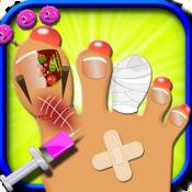 脚趾指甲医生 — — 一个自由钉手术游戏的孩子 & 女童