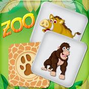 动物园记忆游戏 – 动物卡匹配挑战用于学习