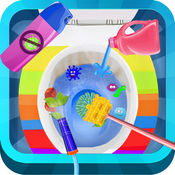 洗乐趣的孩子浴室厕所洗游戏