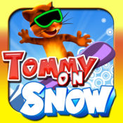 Tommy On Snow Free: 帮助汤米走的快,跳得更高。儿童和成人的好游戏