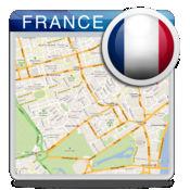 法国离线的道路地图,导游,酒店(免费版)(France offline map)