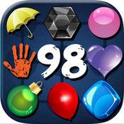 线98经典游戏 - 同样颜色的球
