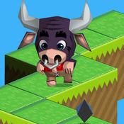 Bull Jumpy Run 3D - 无尽的农场动物运行 1