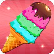 冰淇淋店,美味的冰淇淋机,烹饪游戏的孩子