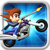 Top Gun Rider ( 赛车和射击汽车游戏 )