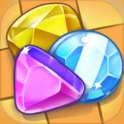 宝石游戏 三消游戏 - 接通相似的宝石搞笑的冒险之旅