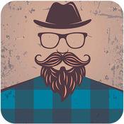 男人的男性化妆-礼服,胡子,发型