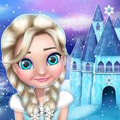 公主城堡女生游戏 - 冬季房屋装修与娃娃为孩子们的 1